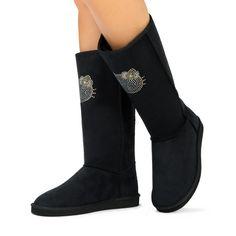 JustFab Hello Kitty black boots