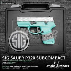 Sig Sauer P320 Subcompact Tiffany Blue 9mm 12 RDS 3.6″ Handgun - Omaha Outdoors  If you love me you will arm me:)
