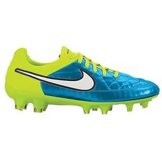 official photos 35be0 a37a7 Nike Womens Tiempo Legend V FG Soccer Cleat Blue Lagoon Volt Sz 75 -- Learn