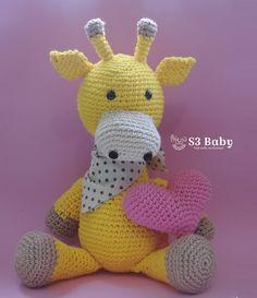 Girafa Amigurumi Crochê                                                       …