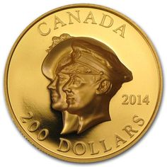 Celebrate First Royal Visit to Canada with this unique pure gold commemorative coin. Coin Store, Mint Gold, Commemorative Coins, World Coins, Effigy, Coin Collecting, Anniversary, Canada, Bronze