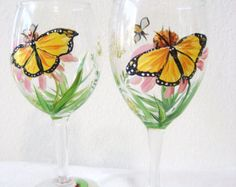This delightful carafe holds 21 ozs and the glass 4ozs.  Two happy bluebirds in a field of poppies daisies and forget me nots add to the charming scene. A unique gift for the lady in your life! Fired for durability, hand wash for best results. Signed and copyright by Patricia Pushaw