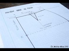 CURSO. Aprender a coser faldas parte 2: Modificar el patrón faldas rectas. - YouTube