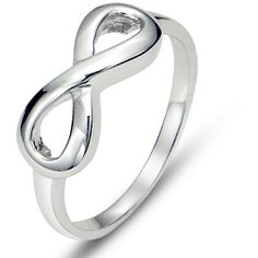 925 Sterling Silver Infinity Symbol Wedding Band Ring ($6.88) ❤ liked on Polyvore featuring jewelry, rings, wedding band jewelry, infinity jewellery, sterling silver rings, wide-band rings and wedding rings
