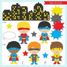 superhero clipart digital clip art super hero by DigitalBakeShop