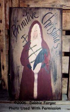Primitive Crafts | Primitive Christmas Signboards-Primitive christmas crafts, crafts ...