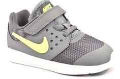 new style da811 03d55 NIKE 869974 002 DOWNSHIFTER 7 TDV Sneakers Bambino Strappo Grigio Verde  Nylon