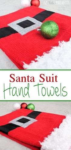 Santa Suit Hand Towels-Makes a great holiday gift!