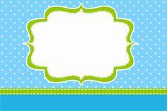 Poa Azul y Verde Limón - Con Kit completo de los marcos párr Las Invitaciones…