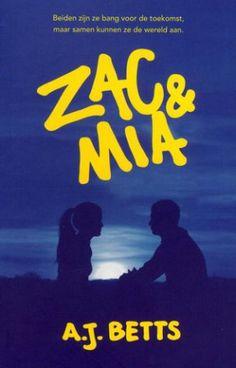 Zac & Mia - A.J. Betts BESCHRIJVING De laatste persoon die Zac had verwacht in de kamer naast die van hem, is een meisje zoals Mia: boos, snel op haar teentjes getrapt en met een twijfelachtige muzieksmaak. In de echte wereld zou hij nooit bevriend met haar (willen) raken. Maar in het ziekenhuis gelden andere regels, en wat begint met kloppen op de muur, leidt naar een briefje - en ten slotte een vriendschap die ze allebei niet aan hadden zien komen. Je hebt moed nodig in het ziekenhuis: en…