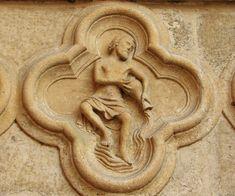 Zodiac signs at the portal of Amiens Cathedral - Aquarius