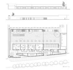 Escuela Infantil y Comedor Municipal en los Mondragones,Planta © Elisa Valero Arquitectura