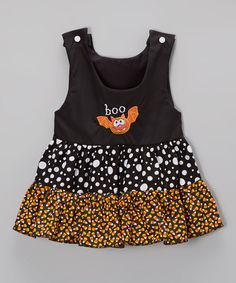 Love this Black 'Boo' Embroidered Bat Shift Dress - Infant, Toddler & Girls on #zulily! #zulilyfinds