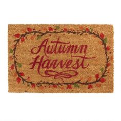 """One of my favorite discoveries at ChristmasTreeShops.com: 18""""x28"""" """"Autumn Harvest"""" Coir Doormat"""