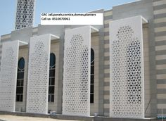 Confashions from Kuwait: Modern Mosque in Kuwait Villa Design, Facade Design, Exterior Design, House Design, Screen Design, Mosque Architecture, Architecture Details, Modern Architecture, Architecture Awards