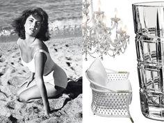 Gli arredi anni 50 total white: seduzione curvy. Forme sinuose vestono il colore più puro per un'eleganza irresistibile.