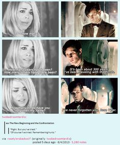 """You can't forget a Rose, they're too beautiful"" The Doctor will always love Rose <3"