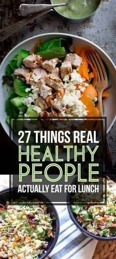 Great options for eating healthy when you are sick of having the same thing over and over