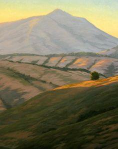 Mt. Tamalpais, Marin county, Northern California landscape painting, original oil painting http://terrysauve.com/available-painting/