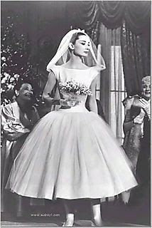 Audrey Hepburn 50s wedding dress  #retro wedding ... Wedding ideas for brides, grooms, parents & planners ... https://itunes.apple.com/us/app/the-gold-wedding-planner/id498112599?ls=1=8 … plus how to organise an entire wedding, without overspending ♥ The Gold Wedding Planner iPhone App ♥
