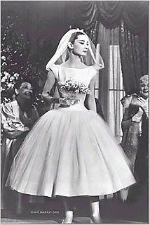 Audrey Hepburn 50s wedding dress  #retro wedding ... Wedding ideas for brides, grooms, parents & planners ... https://itunes.apple.com/us/app/the-gold-wedding-planner/id498112599?ls=1=8 … plus how to organise an entire wedding, without overspending ♥ The Gold Wedding Planner iPhone App ♥