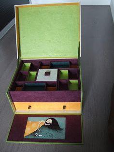 """Comme on dit : """"Choses promise, chose due"""".  Alors voici le tuto pour réaliser la dernière boîte que j'ai faîte, la """"boîte à bijoux Arlequin..."""