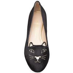 CHARLOTTE OLYMPIA Kitty flat ($605) ❤ liked on Polyvore