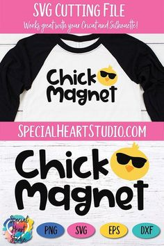 Chick Magnet - Easter SVG Easter cut file for boys and toddlers. Easter Shirts For Boys, Baby Svg, Cricut Creations, Cricut Vinyl, Tees, Tee Shirts, Snack Pack, Easter 2020, Vinyl Cutter