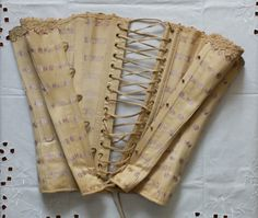 French antique corset Ville de Saint Denis by FrenchModeVintique