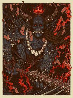 Oni print, Image via sevenserpents.bigcartel.com
