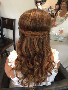 bridesmaid braids   Bridesmaid Updo with braids