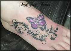 thinking the tribal ink would look cute behind my butterfly tattoo on my back. #possible