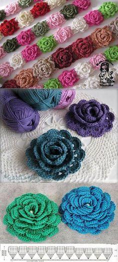 Watch The Video Splendid Crochet a Puff Flower Ideas. Phenomenal Crochet a Puff Flower Ideas. Crochet Puff Flower, Crochet Flower Tutorial, Crochet Leaves, Crochet Flower Patterns, Crochet Designs, Crochet Flowers, Crochet Diagram, Crochet Chart, Crochet Motif
