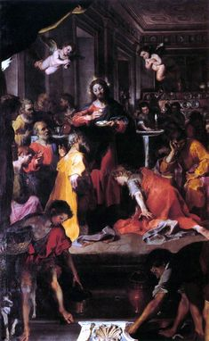 Federico Barocci, The Institution of the Eucharist or Communion of the Apostles c. Catholic Art, Religious Art, Rosary Catholic, Communion, Rosary Mysteries, Annibale Carracci, Renaissance Paintings, Oil Painting Reproductions, Caravaggio