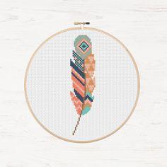 Bird Stitching Stencil Instant Download Tribal by Stitchonomy