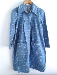 BLUE AND WHITE VINTAGE MARIMEKKO DRESS 1975