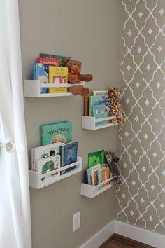 Ikea spice racks used as bookshelves                              …