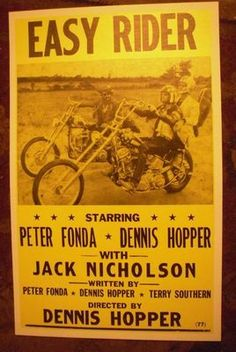 Easy Rider Biker Movie Poster Motorcycle Art Peter Fonda 60s Vintage Repro USA | eBay