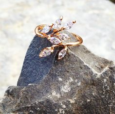 Buy directly from the world's most awesome indie brands. Or open a free online store. Leaf Ring, Indie Brands, Wedding Rings, Jewellery, My Style, Bracelets, Floral, Pretty, Closet
