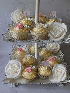 Filigree Rose Cupcakes by Sugar Ruffles, via Flickr