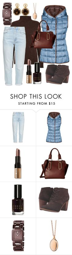 """""""A Night Out To Relax"""" by naviaux ❤ liked on Polyvore featuring M.i.h Jeans, FAY, Bobbi Brown Cosmetics, See by Chloé, TOMS, Movado, Monica Rich Kosann and Poiray Paris"""