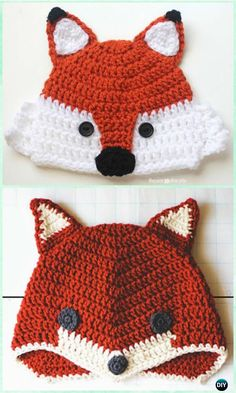 DIY Crochet Fox Hat Free Pattern Instruction- #Crochet Beanie Hat Free Patterns
