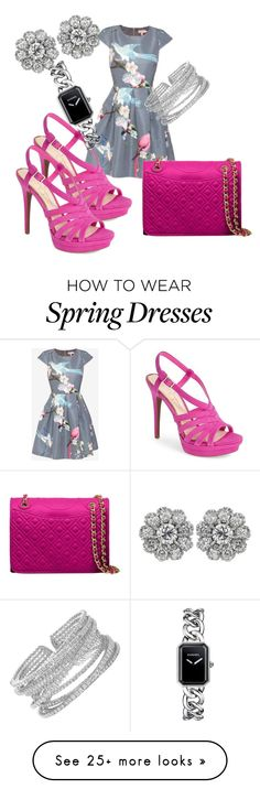 """""""Waiting for spring"""" by fabgram on Polyvore featuring Ted Baker, Jessica Simpson, Tory Burch and Chanel"""