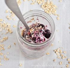 Overnight Oats in a Jar.  A healthy, fast breakfast for those mornings on the go! Vegan.
