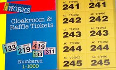 raffle ticket book of 1000 tickets  choose a colour (tombola) with duplicates