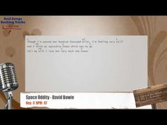 Space Oddity - David Bowie Vocal Backing Track with chords and lyrics