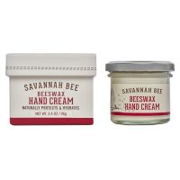 Beeswax Hand Cream 3.4 oz.$14.50  Beeswax and royal jelly replenish and nourish skin with essential nutrients direct from the hive. We add softening pecan and peach kernel oils, anti-oxidizing blueberry extract, and healing propolis to create Savannah Bee Company Beeswax Hand Cream. Fresh peach-scented with a rich and creamy texture, our long-lasting formula protects and softens hard-working hands.   http://savannahbee.com/beeswax-hand-cream