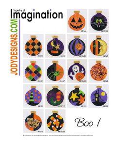 ... Needlepoint Halloween Ornaments