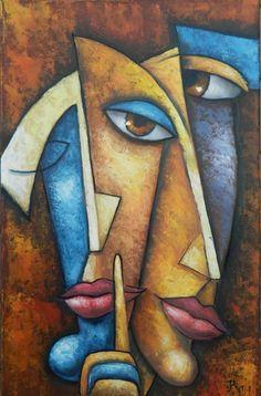 Black Art Painting, Modern Art Paintings, Colorful Paintings, Painting & Drawing, Easy Canvas Art, Cubism Art, Mother Art, Tree Art, Portrait Art