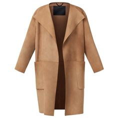 Burberry Bonded Suede Shell Coat (£3,255) ❤ liked on Polyvore featuring outerwear, coats, jackets, coats & jackets, burberry coat, oversized coat, suede coat, beige coat and burberry